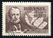Аллан Kardec напечатанное Бразилией Стоковая Фотография RF