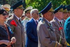 АЛМА-АТА, КАЗАХСТАН - 9-ОЕ МАЯ: Победа торжества дня победы внутри Стоковые Изображения