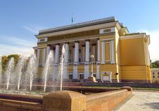 Алма-Ата - театр оперы и балета положения академичный стоковые фото