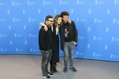Алонсо Ruizpalacios, Ilse Salas и Leonardo Ortizgris во время Berlinale 2018 стоковое фото