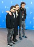 Алонсо Ruizpalacios, Ilse Salas и Leonardo Ortizgris стоковое изображение