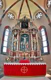 Алтар в церков стоковое изображение