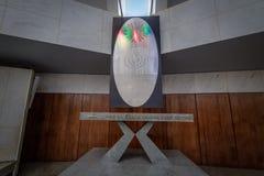 Алтар на виске доброй воли - горжетки Vontade - Brasilia Templo da, Distrito федерального, Бразилии стоковая фотография