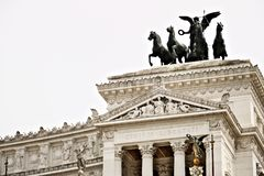 Алтар отечества или Vittoriano в аркаде Venezia в Риме стоковое фото