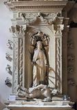 Алтар Святого Катрина Александрии, ` Алессандрии Базилики di Санты Caterina d, Galatina, Италии Стоковое Фото
