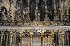 Алтар церков Santa Maria Sopra Minerva в Риме Стоковое Фото