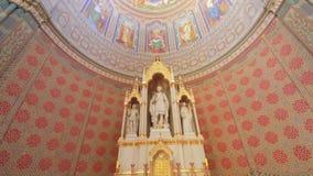 Алтар St Peter собора Djakovo сток-видео