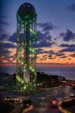 Алфавитная башня в Батуми, Georgia Стоковое фото RF