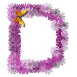 алфавитное письмо consonant d Стоковые Фотографии RF