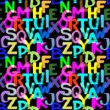 алфавит безшовный Стоковая Фотография