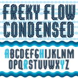 Алфавит вектора в стиле фанк прописной английский помечает буквами собрание Rounde Стоковое фото RF