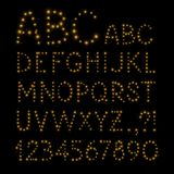 Алфавит вектора рождества Стоковые Фотографии RF