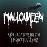 Алфавит выплеска хеллоуина Стоковое Изображение RF
