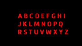 Алфавит в реальном маштабе времени цвета иллюстрация штока