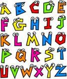 алфавит в стиле фанк Стоковые Фото