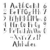 Алфавит грубый иллюстрация вектора