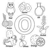 Алфавит детей вектора милый иллюстрация вектора