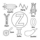 Алфавит животного детей вектора милый иллюстрация вектора