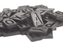 Алфавит и номер Letterpress стоковое фото rf