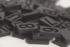 Алфавит и номер Letterpress стоковое изображение rf