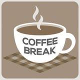Алфавит перерыва на чашку кофе на чашке иллюстрация штока