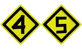 алфавит помечает буквами номер Стоковая Фотография