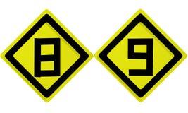 алфавит помечает буквами номер Стоковое Изображение