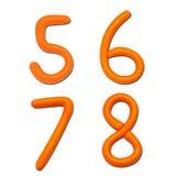 алфавит помечает буквами пластилин номера Стоковые Изображения