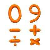 алфавит помечает буквами пластилин номера Стоковые Фотографии RF