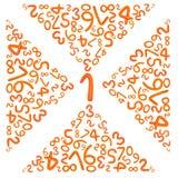 алфавит помечает буквами пластилин номера Стоковые Изображения RF