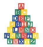 алфавит преграждает деревянное Стоковое фото RF