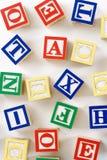 алфавит преграждает игрушку Стоковая Фотография