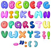 алфавит пузыря 3d иллюстрация штока