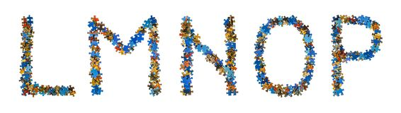 Алфавит сделанный головоломки соединяет - концепцию образования Стоковая Фотография