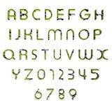 алфавит сделанный по образцу 3d зеленый Стоковые Фотографии RF