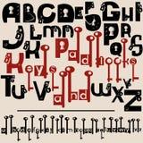 Алфавит с keyholes и ключами Стоковые Фотографии RF