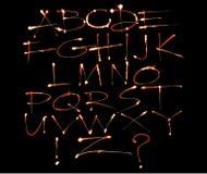 алфавит цветастый Стоковая Фотография