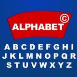 Алфавит шрифта для имени логотипа бренда компании иллюстрация вектора