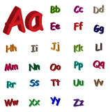 алфавит 3d Стоковое фото RF