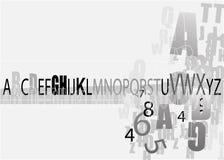 алфавит Стоковая Фотография