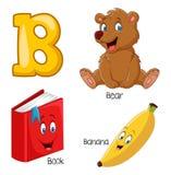 Алфавит b шаржа иллюстрация вектора