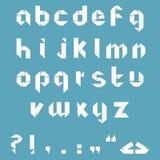 Алфавит Origami Стоковое Изображение