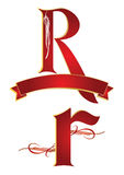 алфавит r иллюстрация вектора