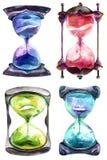 Алхимические часы песка иллюстрация вектора
