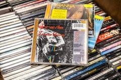 Альбом навсегда молодое 1984 CD Alphaville на дисплее для продажи, известный немецкий диапазон synth-попа стоковые фотографии rf