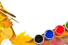 альбом чистит краски щеткой листьев рамки Стоковые Фотографии RF