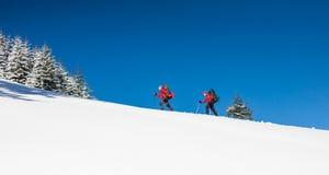2 альпиниста в горах Стоковое Изображение