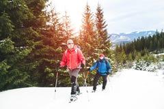 2 альпиниста в зиме Стоковое Изображение RF