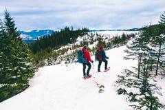 2 альпиниста в зиме Стоковые Фото