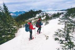 2 альпиниста в зиме Стоковые Фотографии RF